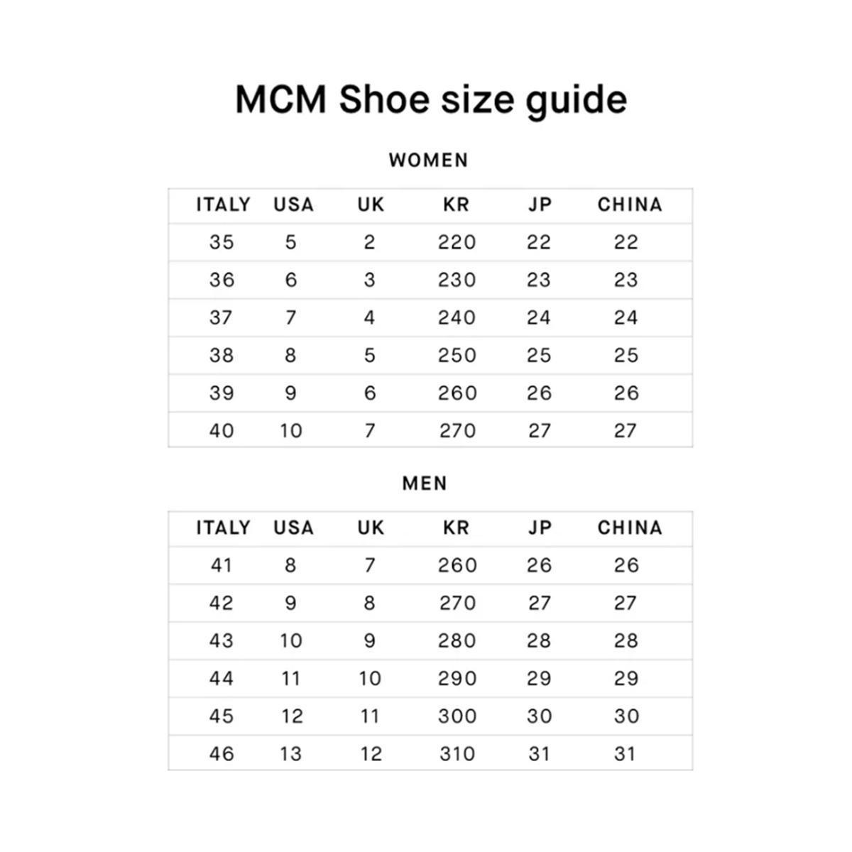 엠씨엠(MCM) 여성용 비세토스 및 가죽 로우탑 스니커즈 MES9S2I03CO