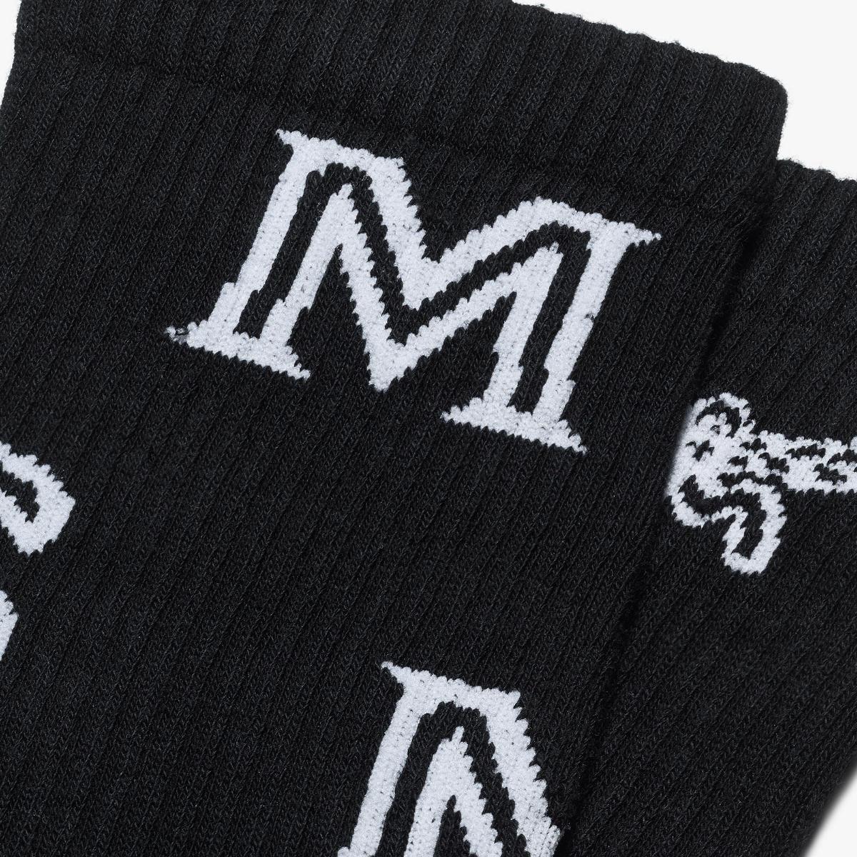 엠씨엠(MCM) M 로고 코튼 삭스 MEZASBM03BK