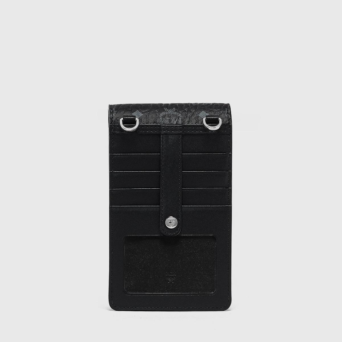 엠씨엠(MCM) 지오 그라피티 비세토스 크로스바디 휴대폰 케이스 MXEBSSX01BK